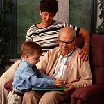 old man with children
