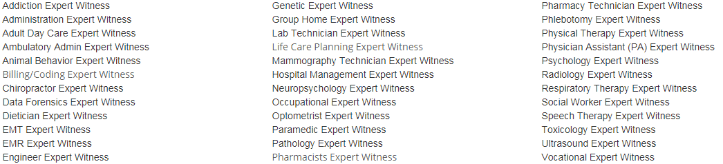 Other Medical Expert Witness